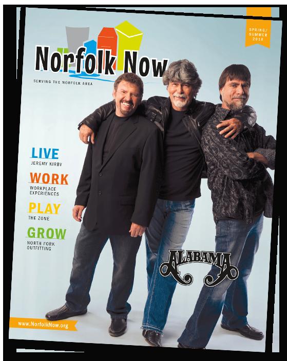 Norfolk Now Magazine spring summer 2018 issue norfolk nebraska live work play grow