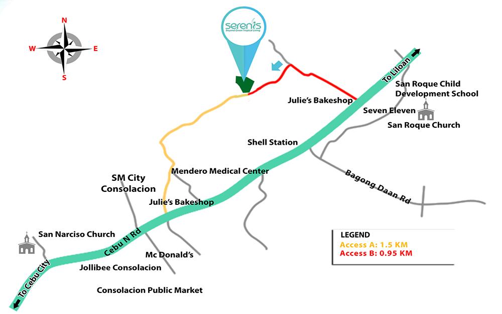 serenis map