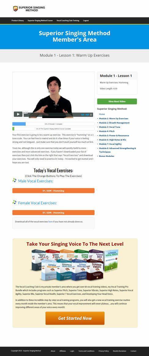 superior singing method members area