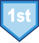 1st place course badge