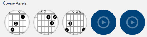 OpenNote lesson assets change for each chord lesson.
