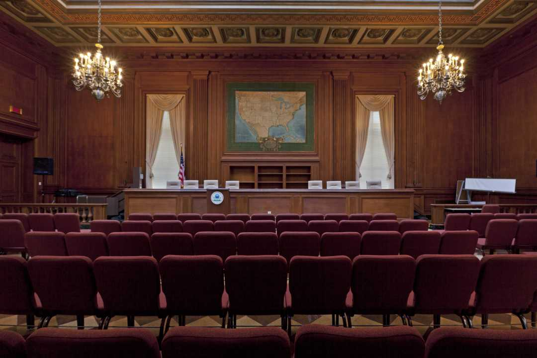 Main hearing room used by the Interstate Commerce Commission (now used by the EPA)