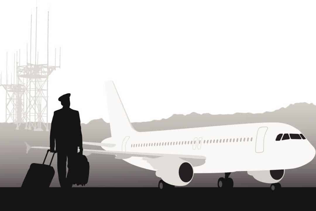 Illustration of pilot walking to aircraft