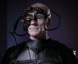 """PK, We are Borg. Lower your shield and surrender your ship. We will add your biological and technological distinctiveness to our own. Your culture will adapt to service us. Resistance is futile."""