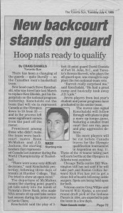 Steve Nash's and Rowan Barrett's leadership in the backcourt foreshadowed leadership in the front office almost 20 years later