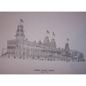 Piney Woods Hotel Poster Black & White