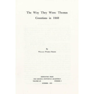 The Way They Were- Booklet