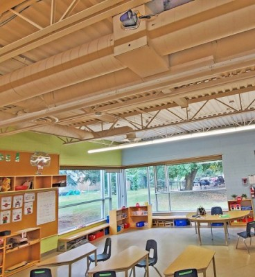 Classroom with Cleaner Air Tech