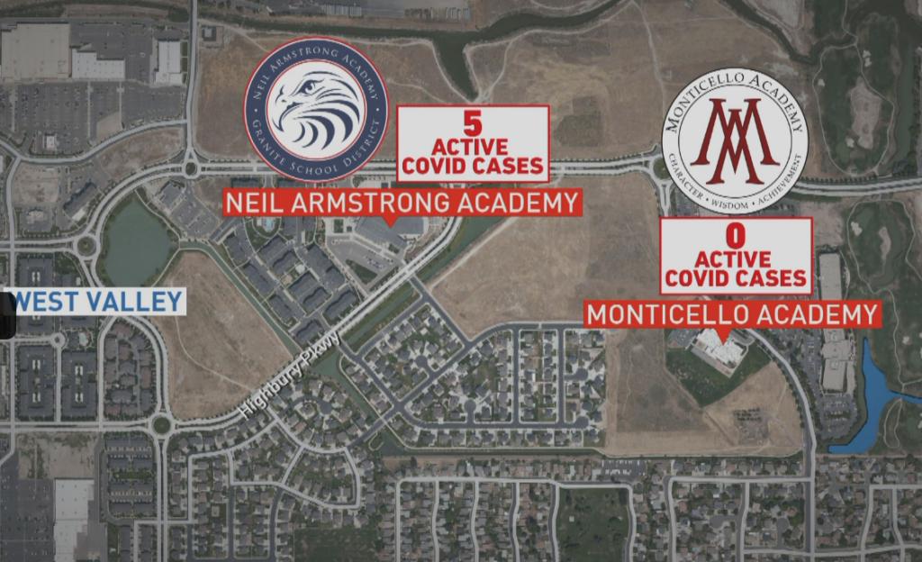 Satellite Photo of Monticello West Valley and Granite School