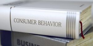 Consumer Behavior Concept. Book Title. 3D.
