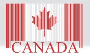 Canada barcode flag, vector
