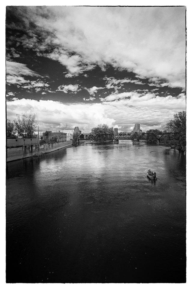 View from Wealthy Street Bridge, Grand Rapids, 2012