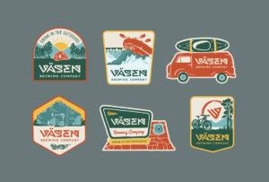 Vasen Brewing Co. Outdoor Stickers