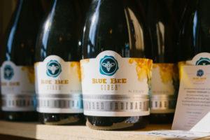 Blue Bee Cider Bottle Detail