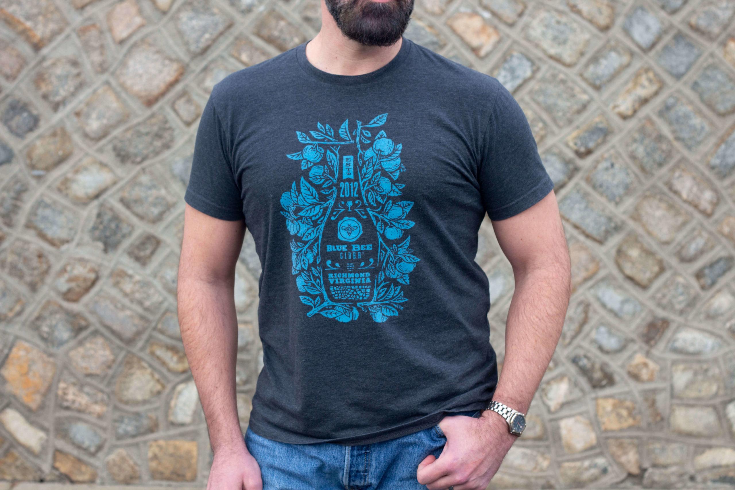 Blue Bee Cider Tshirt Design