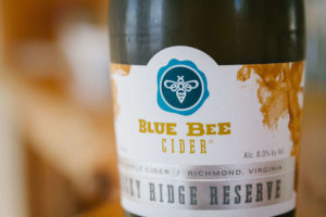 Blue Bee Cider Bottle Detail