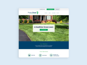 Project Green Homepage Web Design