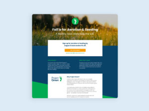 Project Green Promotional Web Design