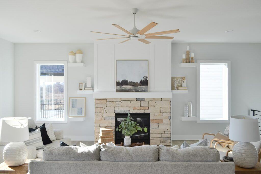 coastal farmhouse living room