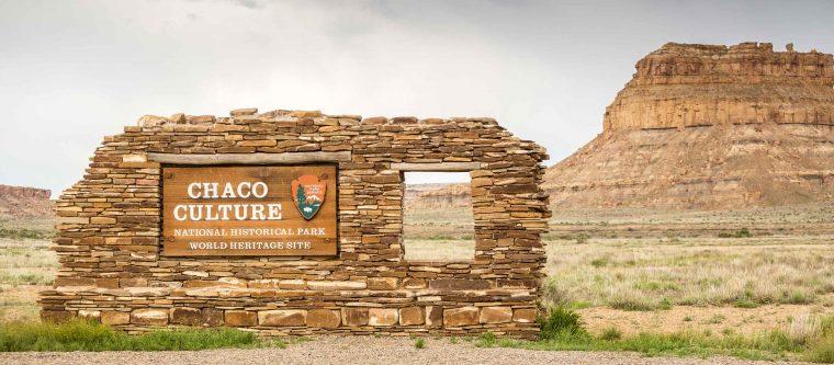 Chaco Canyon National Historical Park Sign