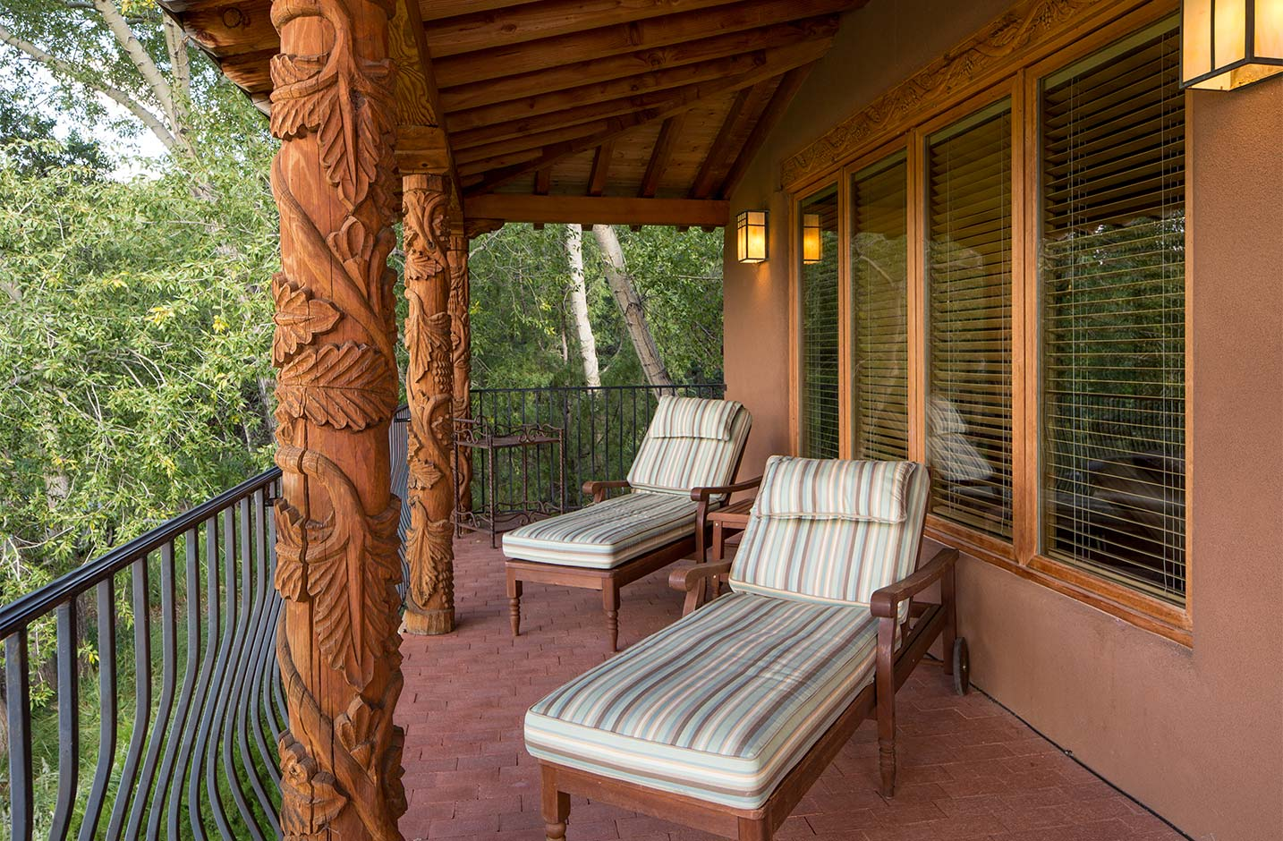 Private balcony with lounge chairs