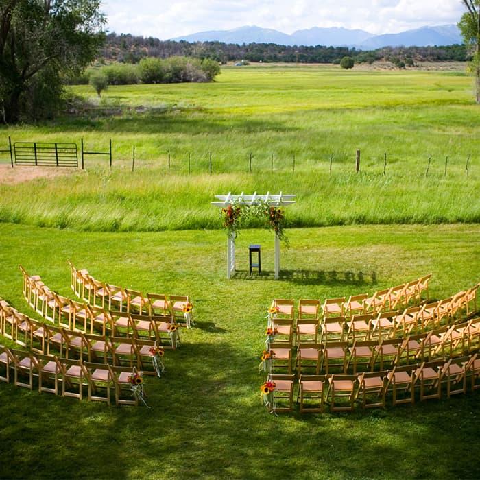 Wedding venue at Ridgewood Event Center