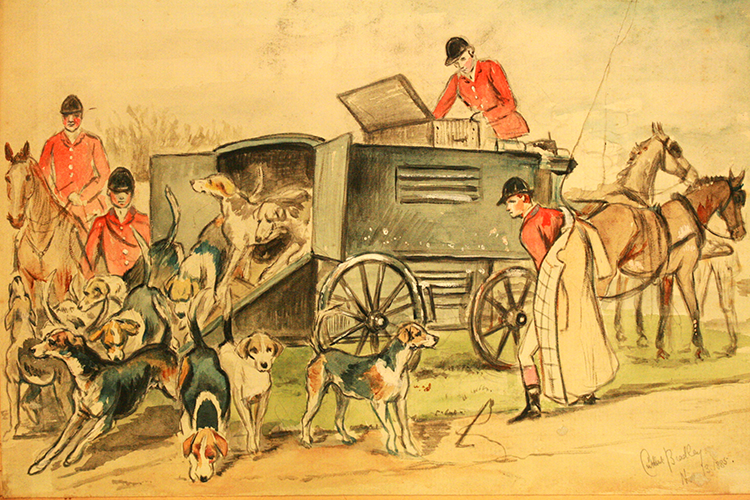 Original watercolor by Cuthbert Bradley, 1885. Courtesy of National Sporting Library & Museum Archives.