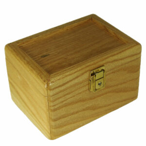 Pikes Peak Locking Stash Box, Red Oak
