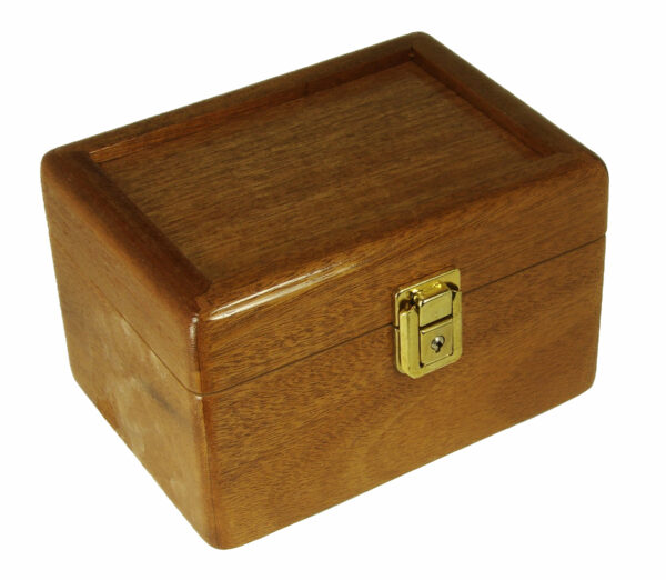The Pikes Peak Locking Stash Box made out of Mahogany