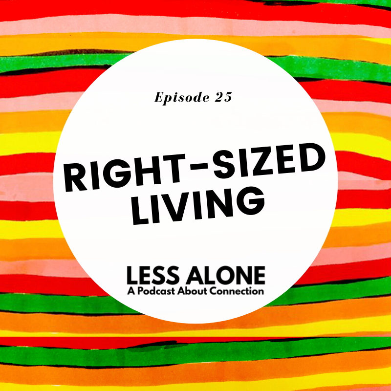 Right-Sized Living w/ John Weisbarth of Tiny House Nation - Less Alone: A Podcast About Connection