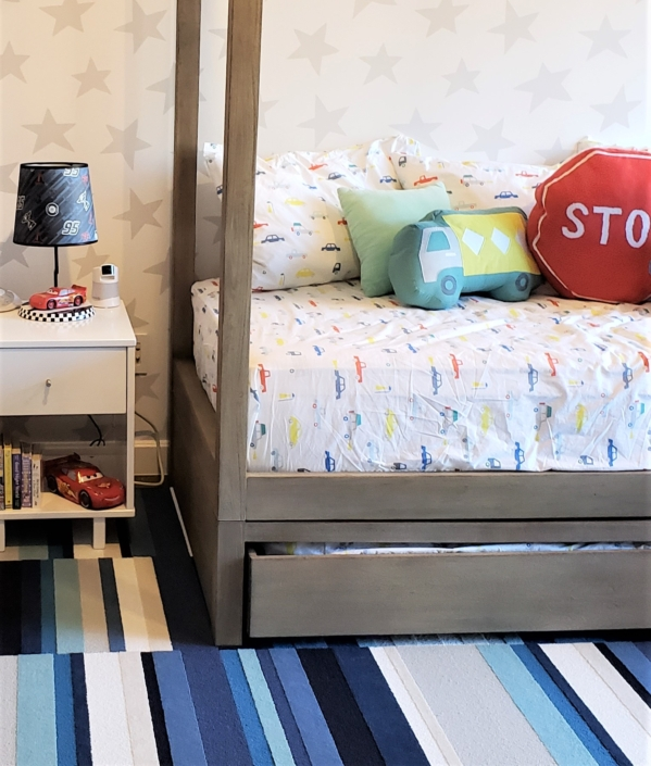 Kids bedroom, boys bedroom & Youth bedroom designed & styled by Orlie Katsiris Staging & Interiors