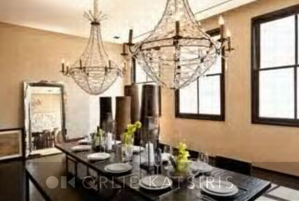 Dining Room & Farm Table styled by Orlie Katsiris Staging & Interiors