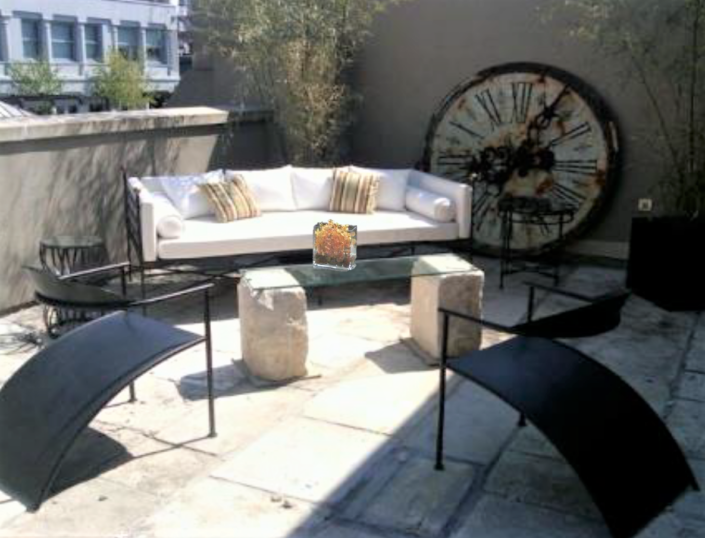 Terrace design & styled by Orlie Katsiris Staging & Interiors