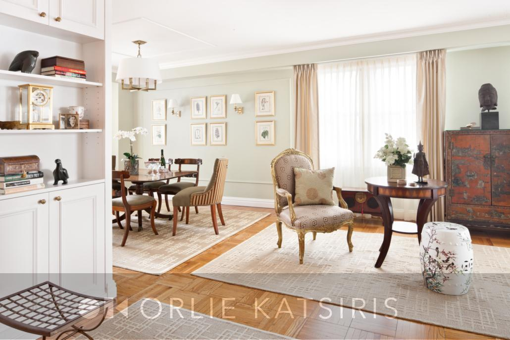 Gallery & Seating Area renovated, designed & styled by Orlie Katsiris Staging & Interiors