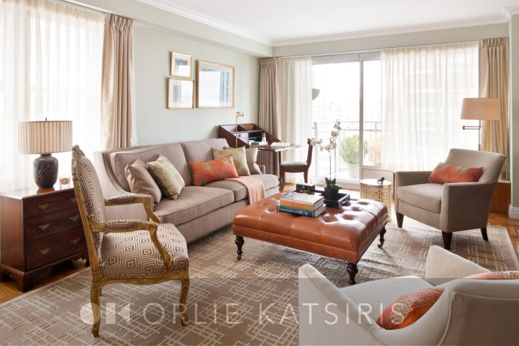 Living Room & Seating Area Home Office renovated, designed & styled by Orlie Katsiris Staging & Interiors