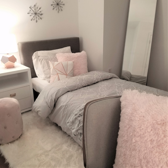Tween Bedroom & Girls Bedroom renovated, designed & styled by Orlie Katsiris Staging & Interiors