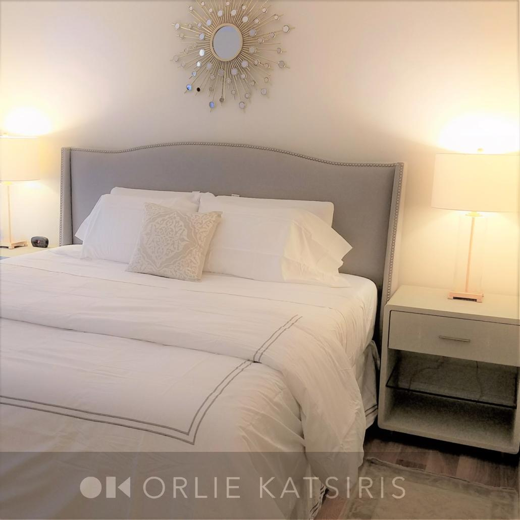 King Bedroom & Master Bedroom renovated, designed & styled by Orlie Katsiris Staging & Interiors