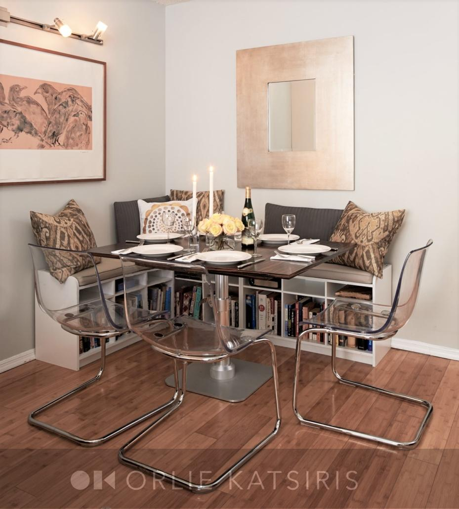 Dining Room & Dining Nook renovated, designed & styled by Orlie Katsiris Staging & Interiors
