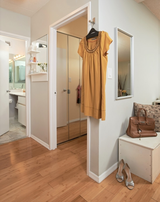 Dressing Room & Hallway corridor renovated, designed & styled by Orlie Katsiris Staging & Interiors