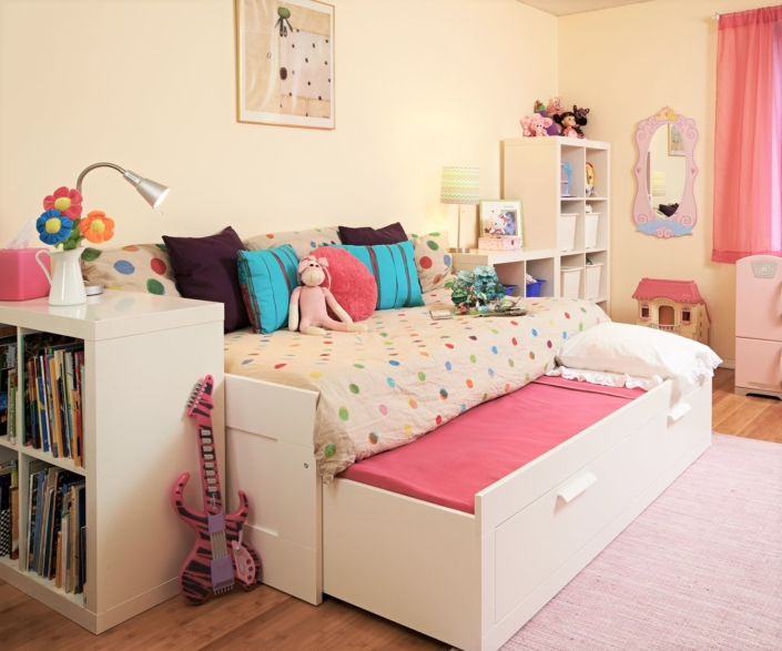 Kids Bedroom & Girls Bedroom renovated, designed & styled by Orlie Katsiris Staging & Interiors