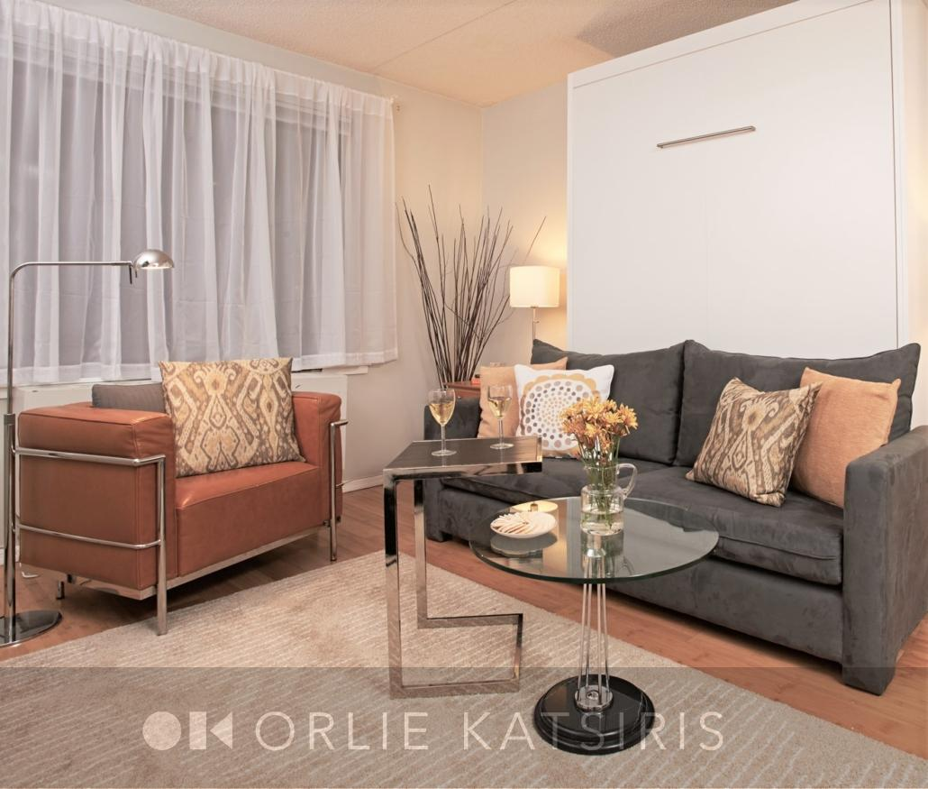 Living Room & Seating Area 1 renovated, designed & styled by Orlie Katsiris Staging & Interiors