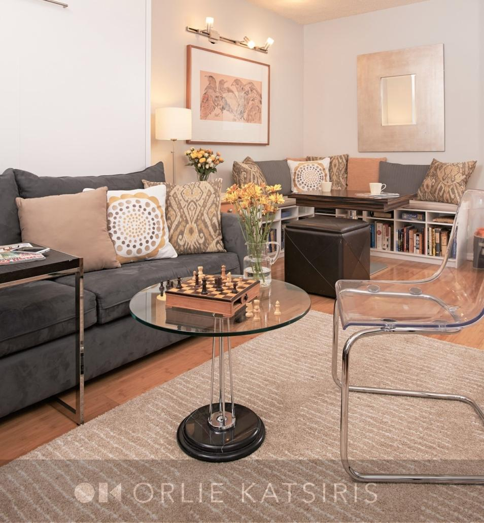 Living Room & Dining Area renovated, designed & styled by Orlie Katsiris Staging & Interiors