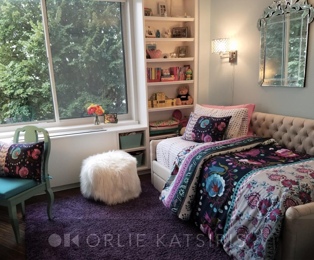 Kids Bedroom, Tween Bedroom & Girls Bedroom renovated, designed & styled by Orlie Katsiris Staging & Interiors