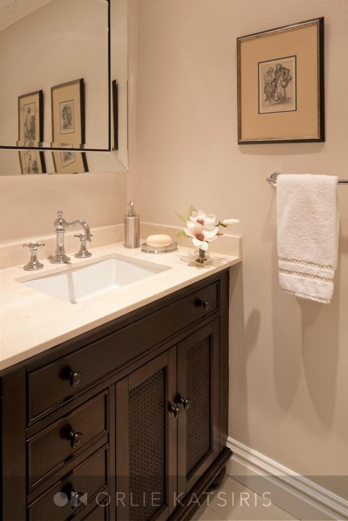 Bathroom & Powder Room renovated, designed & styled by Orlie Katsiris Staging & Interiors