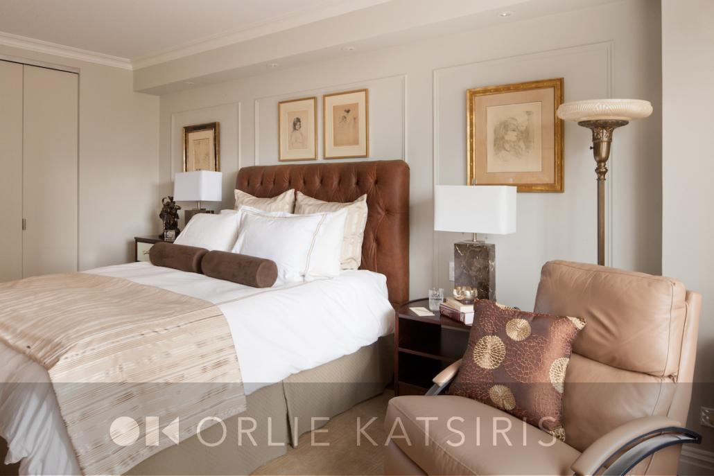 Bedroom, Master Bedroom & Seating Area renovated, designed & styled by Orlie Katsiris Staging & Interiors