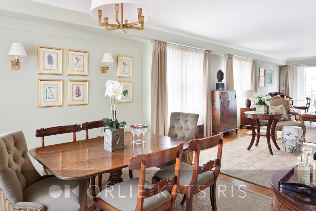 Dining room & Dining Area renovated, designed & styled by Orlie Katsiris Staging & Interiors