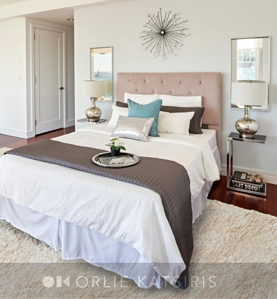 Master Bedroom & Bedroom designed & styled by Orlie Katsiris Staging & Interiors