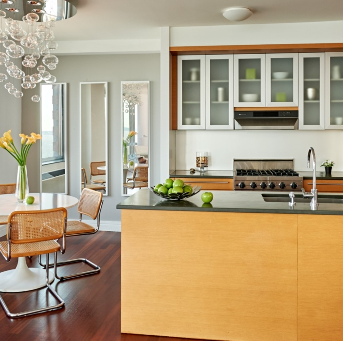 Kitchen, Eat-in Kitchen & Dining Area designed & styled by Orlie Katsiris Staging & Interiors