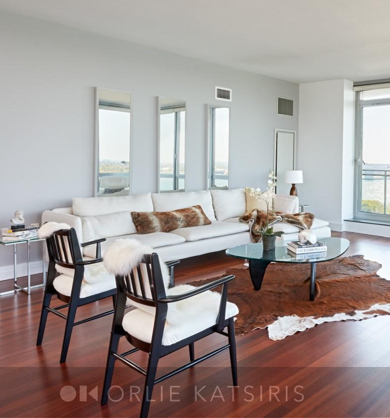 Living Room & Seating Area Designed & Styled by Orlie Katsiris Staging & Interiors