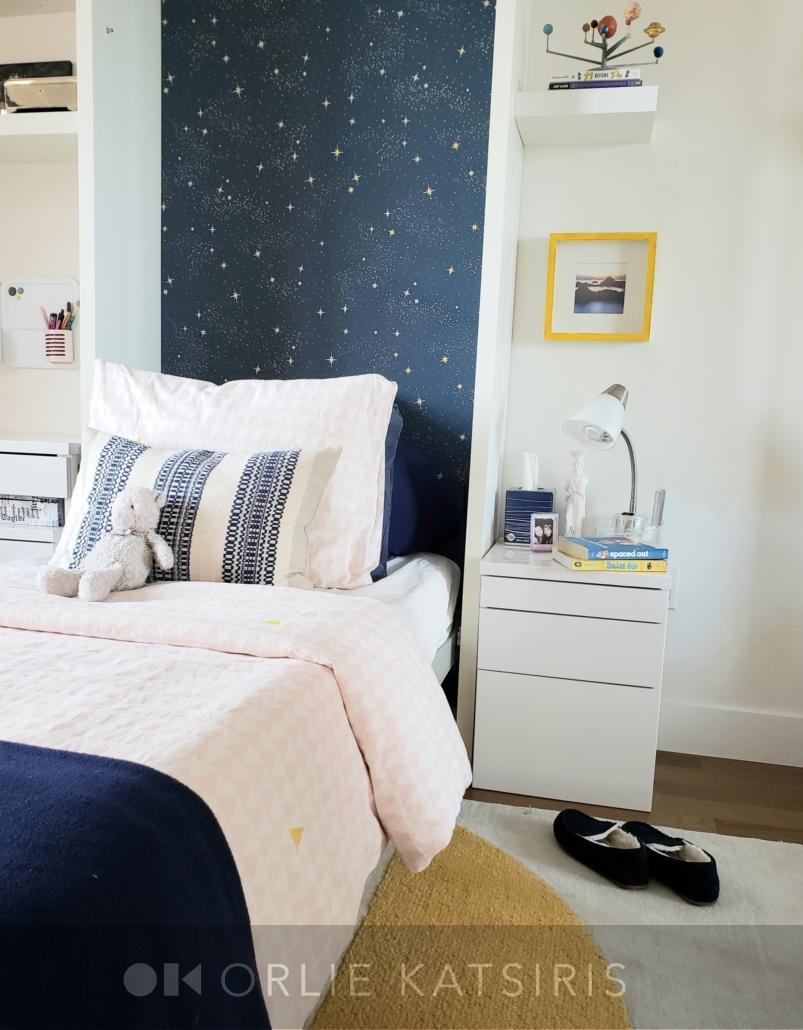 Kids Bedroom, Youth Bedroom renovated, designed & styled by Orlie Katsiris Staging & Interiors